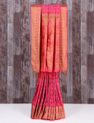 Pink lovely silk wonderful saree