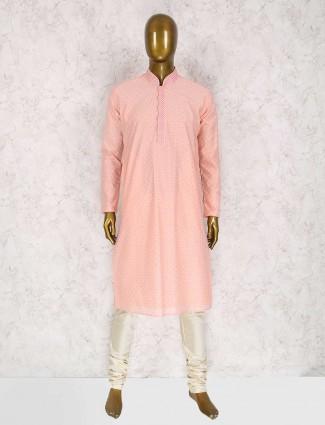 Pink party wear kurta suit