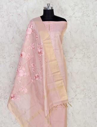 Pink punjabi suit material in cotton