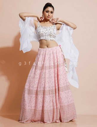 Pink silk wedding occasion lehenga choli