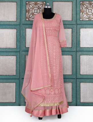 Pink wedding wear salwar suit