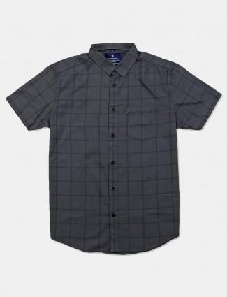 Pioneer dark grey checks shirt