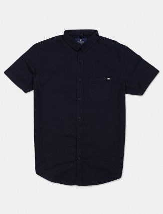 Pioneer presented navy solid shirt