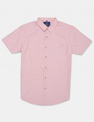 Pioneer solid pink casual shirt