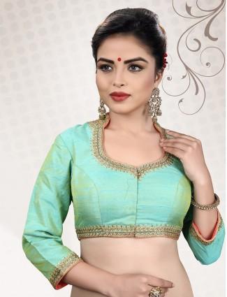 Pista green designer ready made blouse