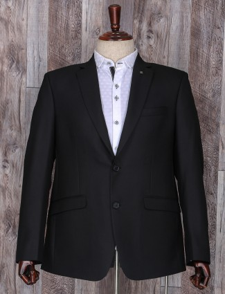 Plain black attractive party wear coat suit