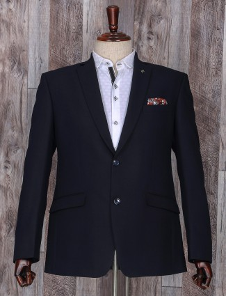Plain black party wear coat suit