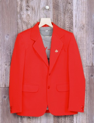 Plain red party wear blazer
