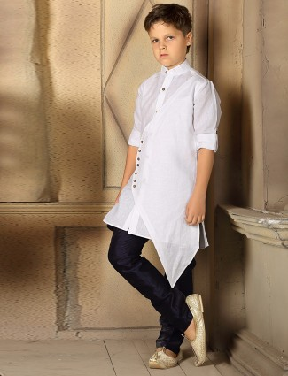 Plain white designer kurta suit