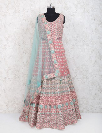 Pleasing pink floor length anarkali suit