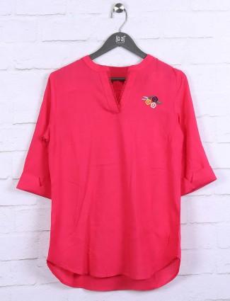 Pretty pink hue cotton top