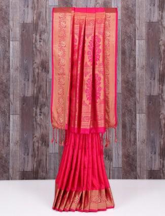 Pretty rani festive wear dressy saree