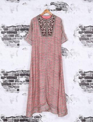 Printed pattern pink color kurti