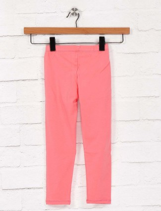Pro Energy peach color cotton fabric jeggings