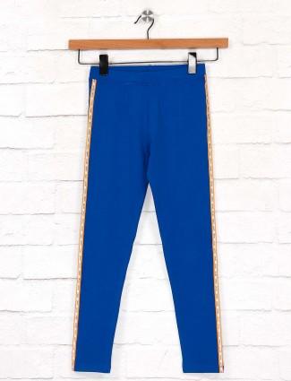 Pro Energy royal blue color cotton fabric jeggings