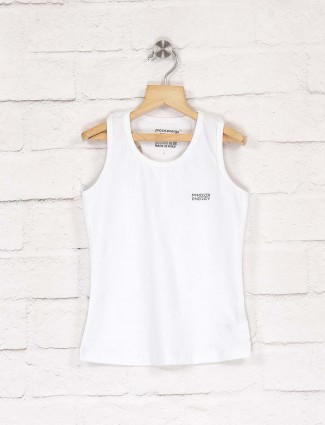 Pro Energy solid white hue top