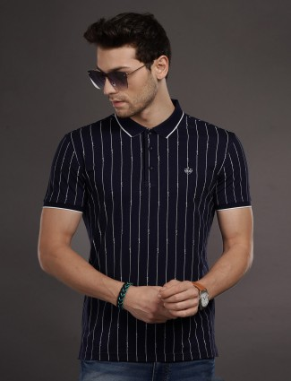 Psoulz mens stripe navy t-shirt