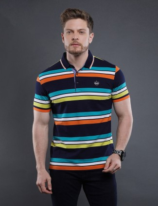 Psoulz multicolour stripe cotton t-shirt