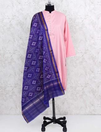Purple hue color patola silk dupatta