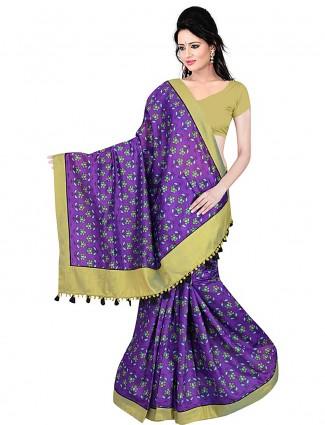 Purple hue cotton saree
