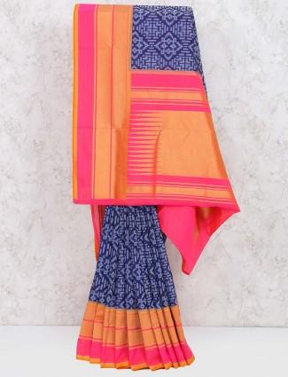 Purple hue semi silk pretty saree