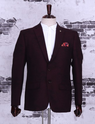 Purple wine color blazer