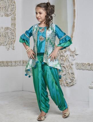 Rama green color dhoti suit