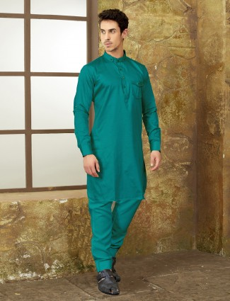 Rama green color pathani suit