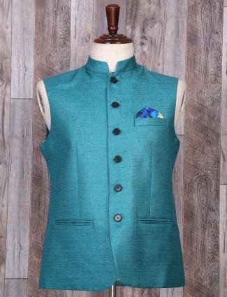 Rama green festivewear waistcoat