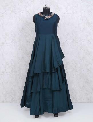 Rama green floor lenght gown