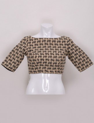 Ready made blouse in beige color