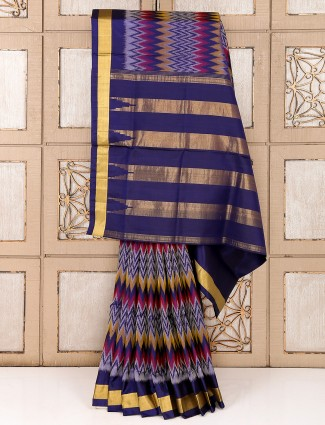 Reception wear purple saree