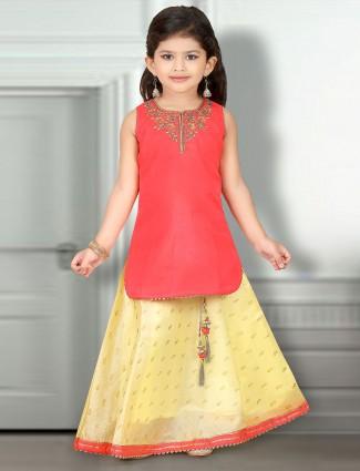 Red color lehenga cum or salwar suit