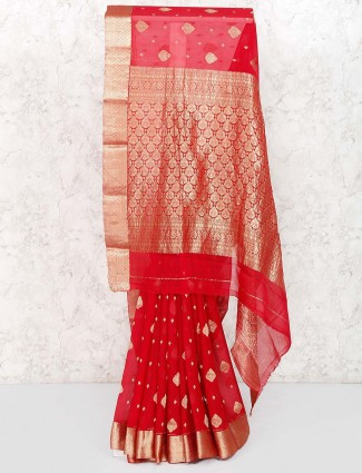 Red color lovely  saree