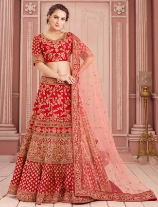 Red lehenga choli for bride