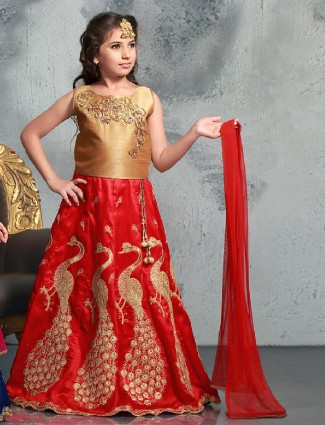 Red wedding wear attractive silk lehenga choli