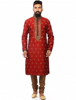 Red wedding wear silk wonderful Kurta Suit