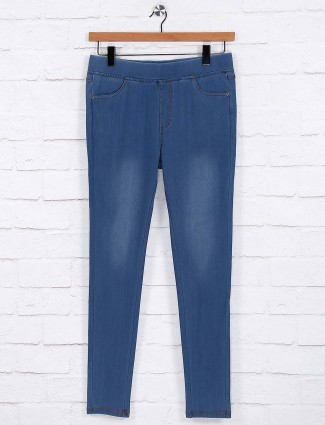 Regular blue simple jeggings