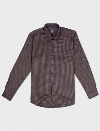 Relay brown hue slim fit shirt