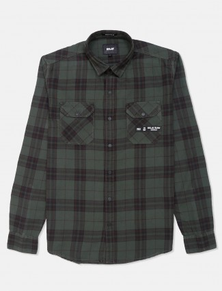 Relay green tweed patern cotton shirt