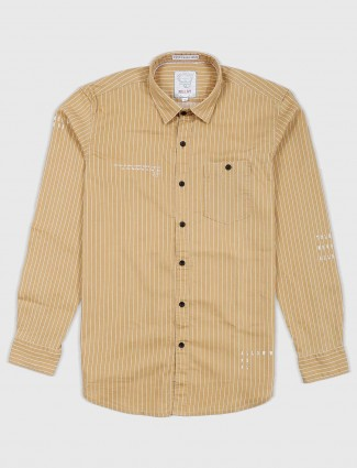 Relay mustard yellow striped casual shirt