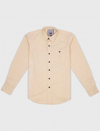 Relay plain cream shirt