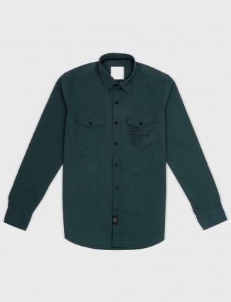 Relay slim fit green hue shirt