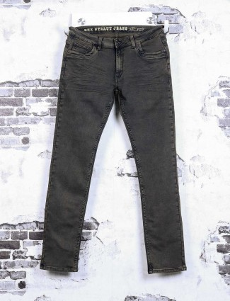 Rex Straut brown solid jeans