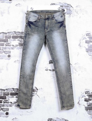 Rex Straut light brown washed jeans