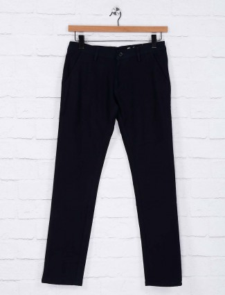 Rex Straut navy hued solid trouser