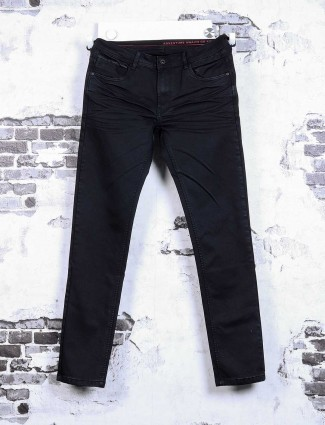 Rex Straut plain black jeans