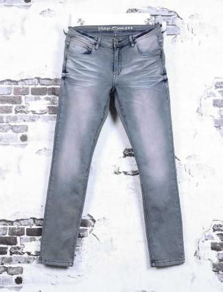 Rex Straut plain light grey jeans