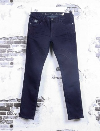 Rex Straut plain navy jeans