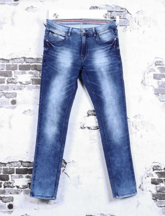Rex Straut solid blue jeans